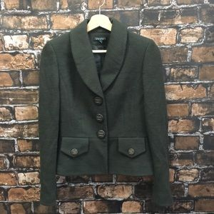 Tahari Olive Green Wool Jacket
